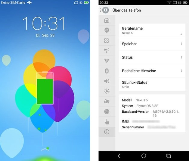 meizu flymeos lockscreen settings deu