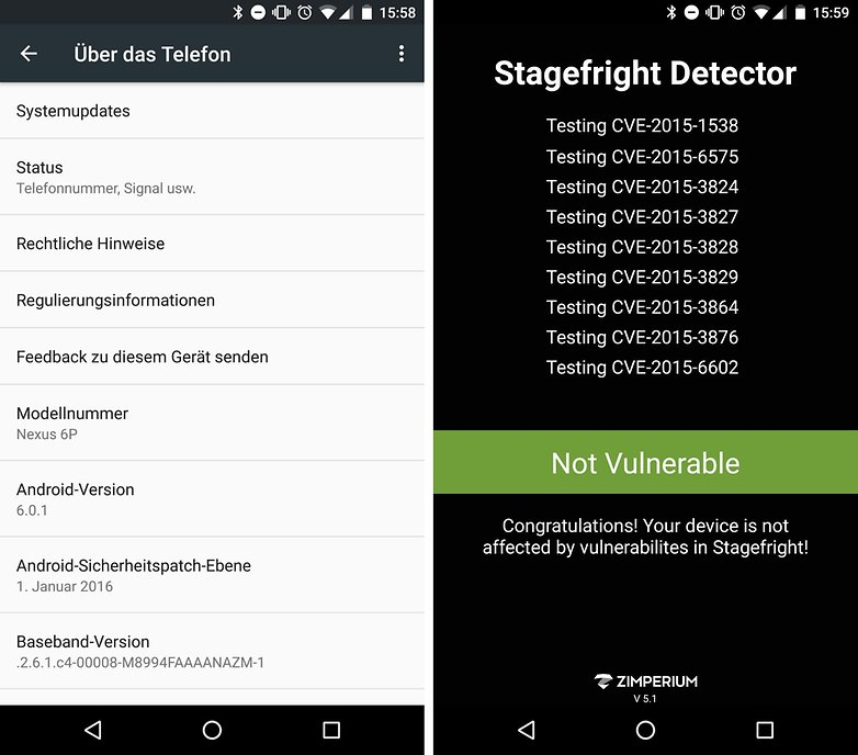 monthly update de stagefight detector