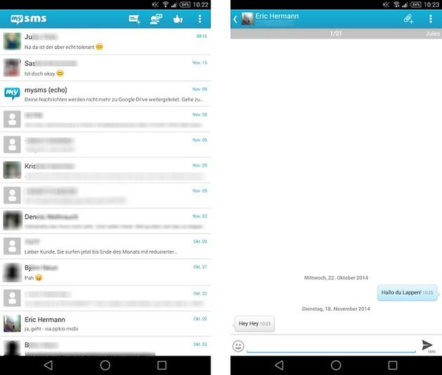 mysms list chat de