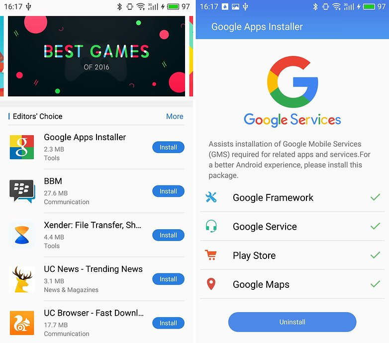 AndroidPIT Meizu Pro 6 Plus google apps