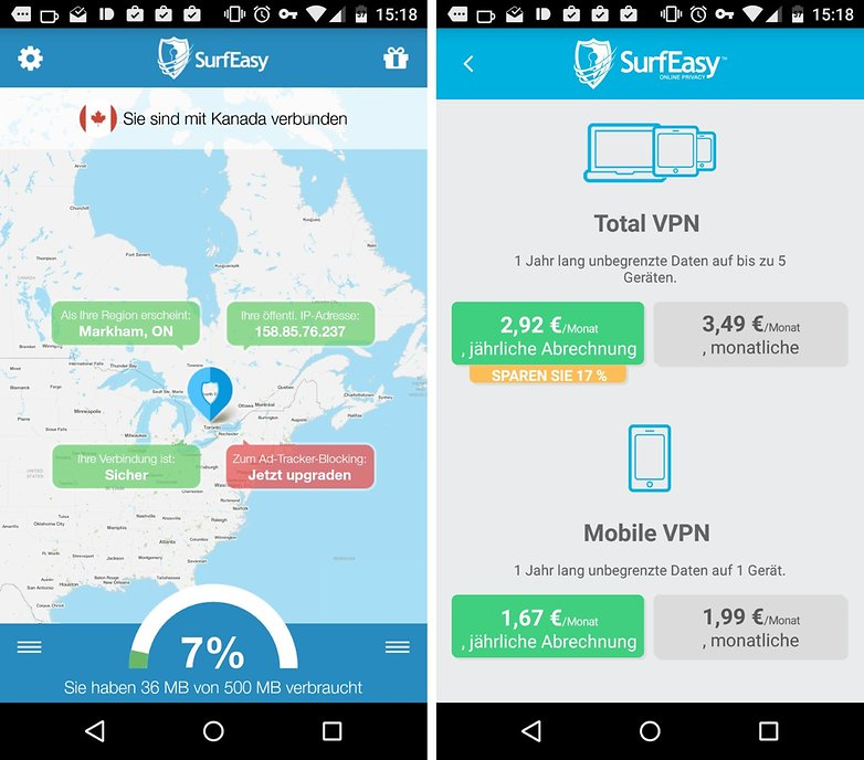 SurfEasy VPN Android de