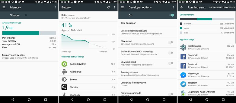 android nougat running services