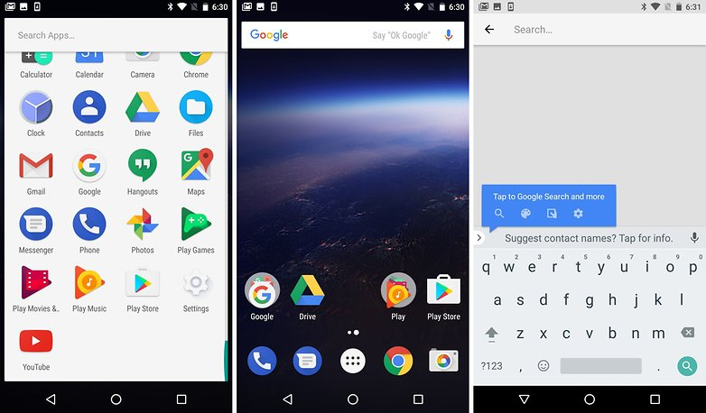 android o home drawer keyboard