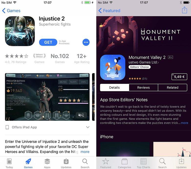 app store app page 11 vs 10