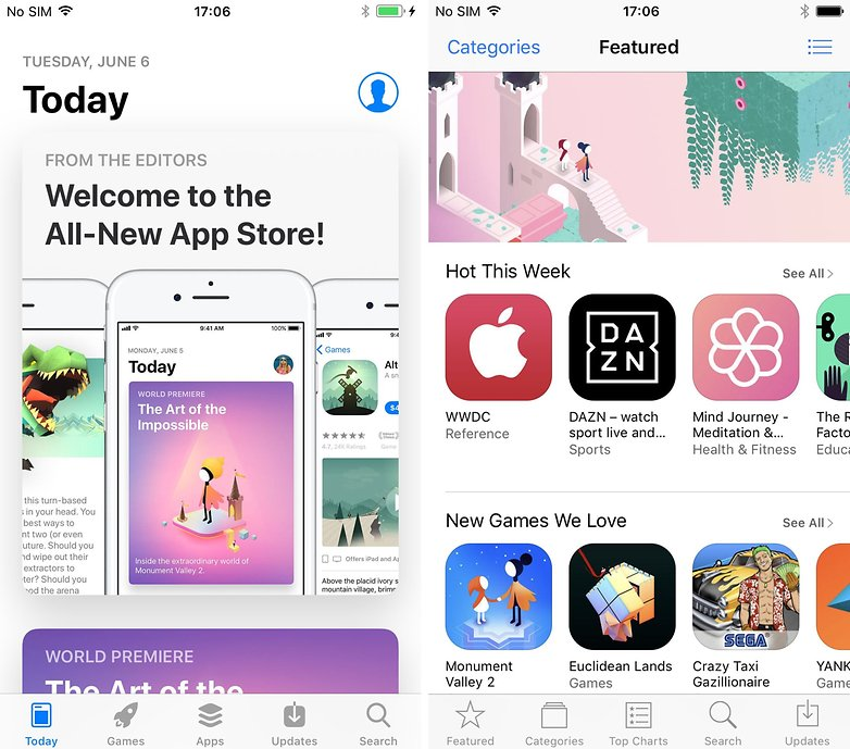 app store today vs featured