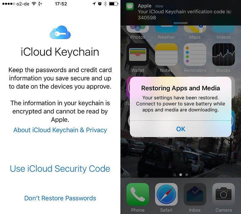 apple keychain restore apps