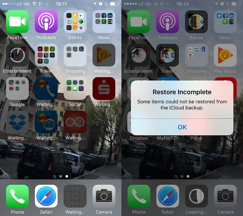 apple keychain restore fail