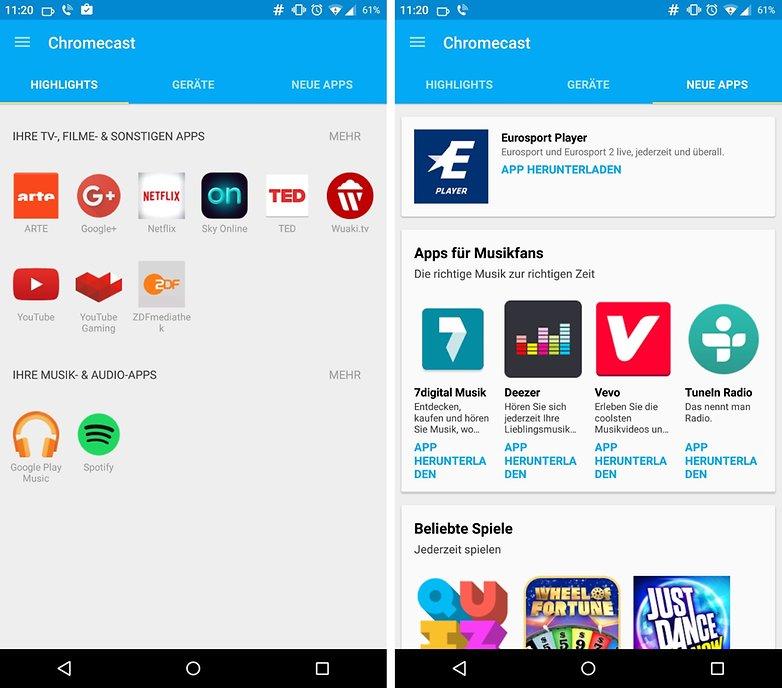 chromecast new app audio de