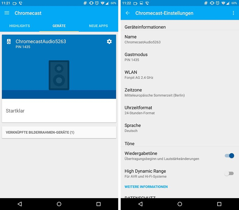 chromecast new app audio settings de