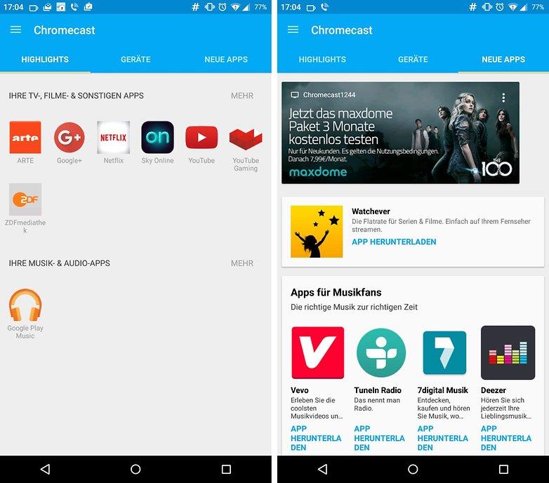 chromecast new app de