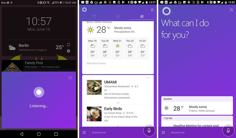 cortana for android listen feed