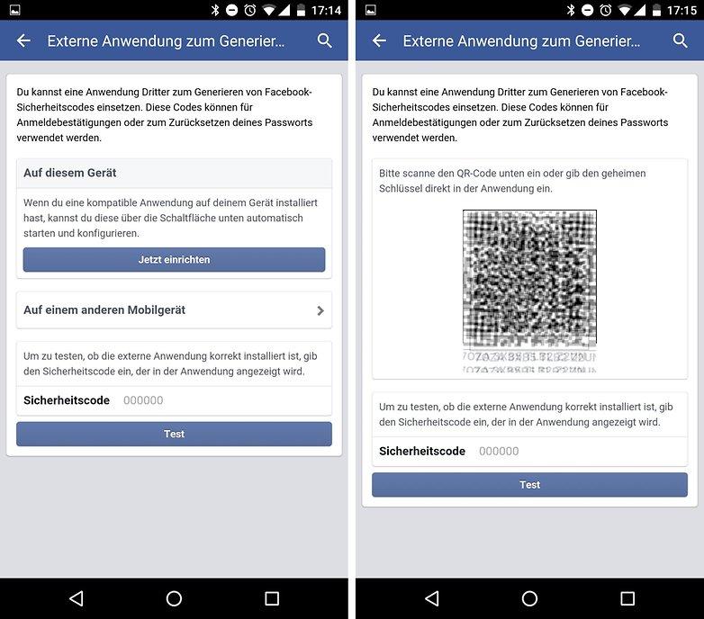 facebook 2fa de