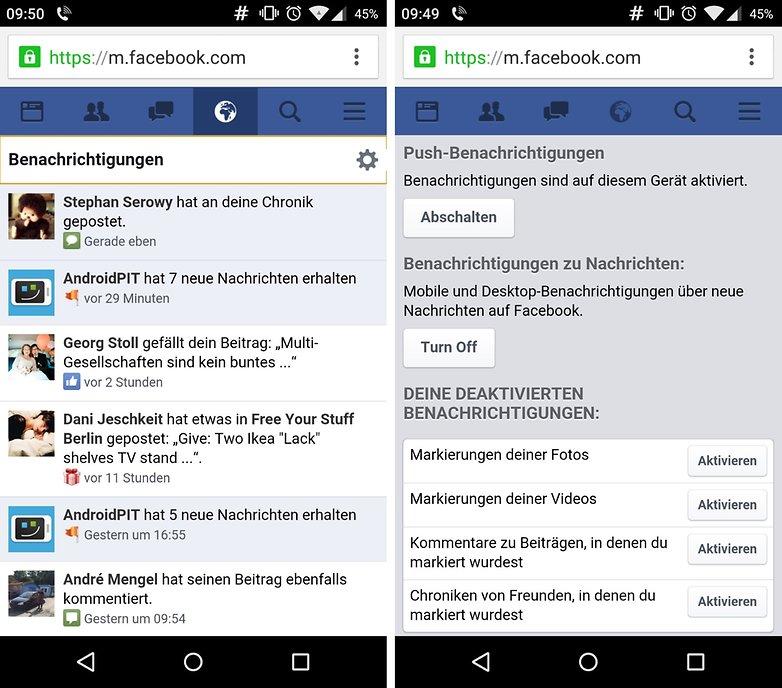 facebook push api configure de