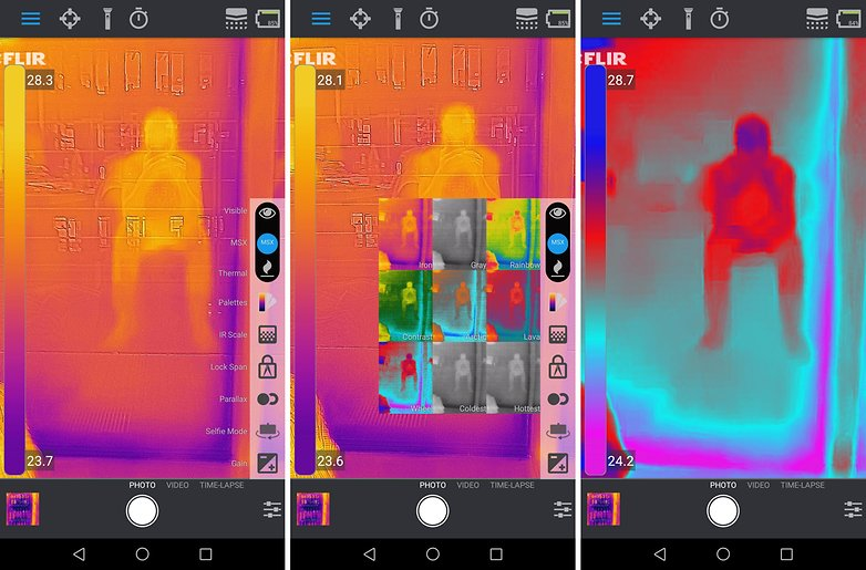 flir one pro app settings