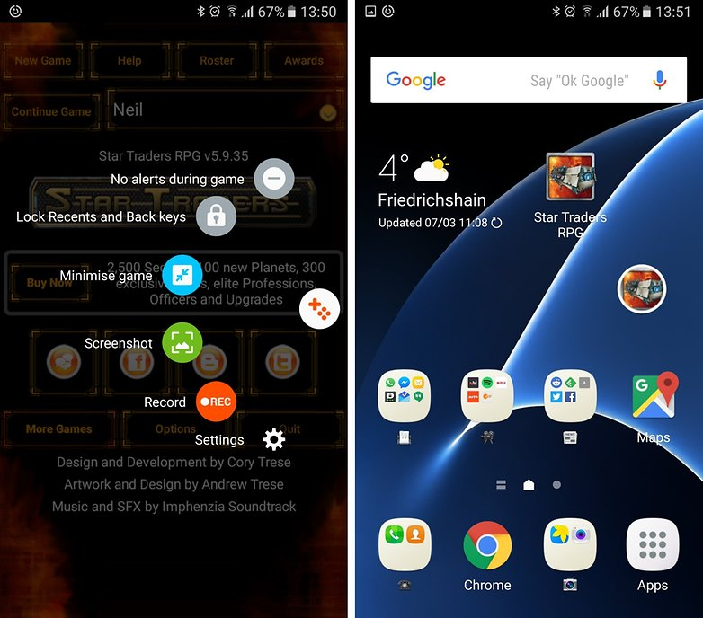 galaxy s7 game launcher