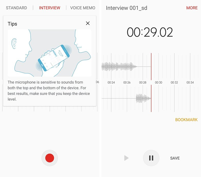 galaxy s7 voiceRECORDER
