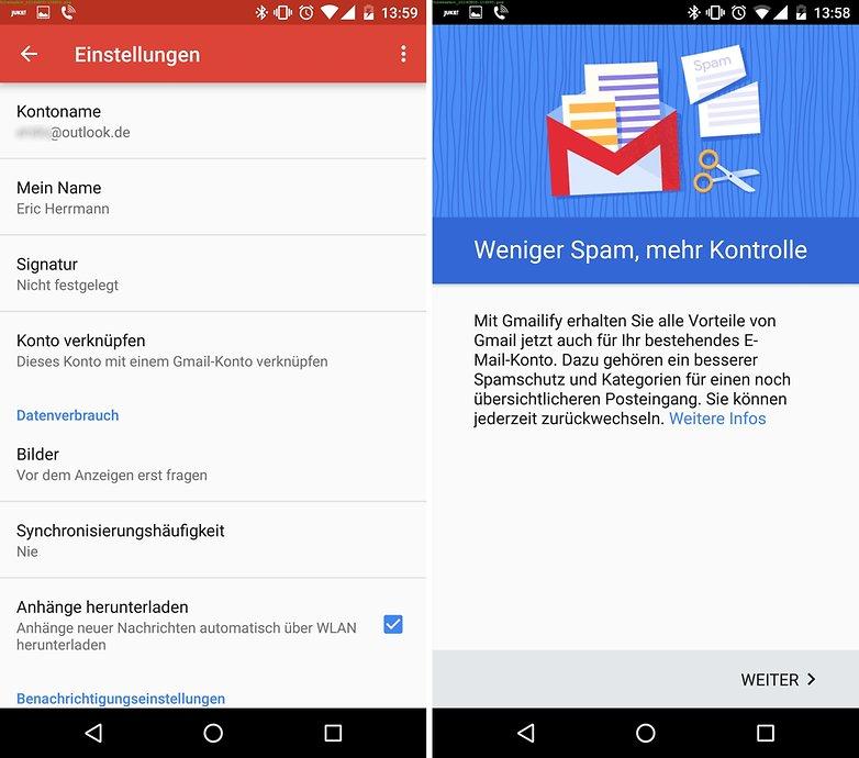 gmail gmailify de