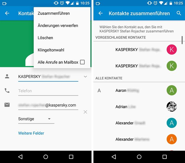 Chaos Im Telefonbuch So Könnt Ihr In Android Doppelte Kontakte