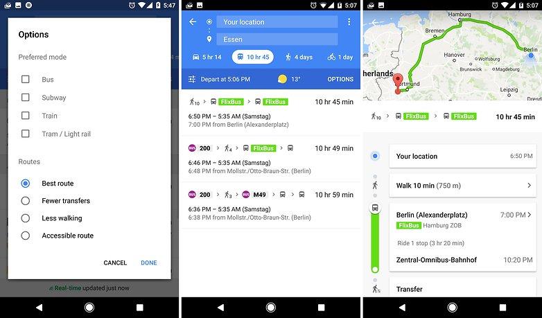 google maps flixbus