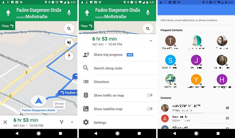 google maps share progress