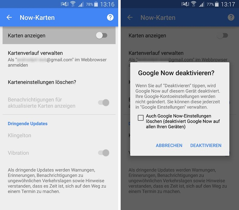 google now deaktivieren 1