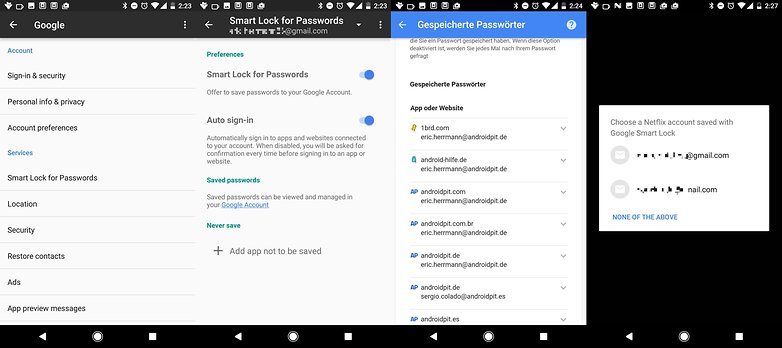 google smart lock for passwords