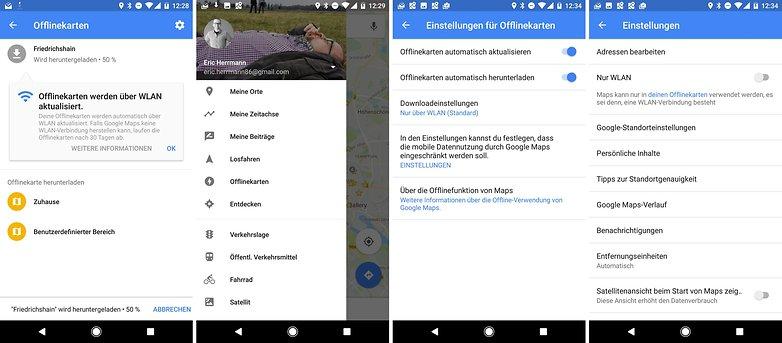 google maps offline configuration de
