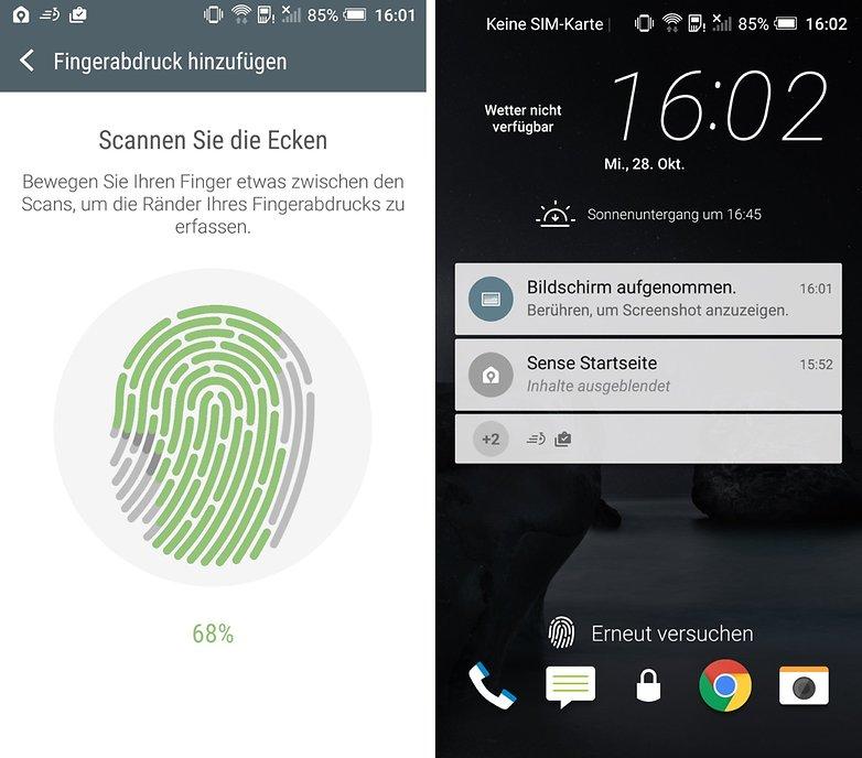 htc one a9 fingerprint sensor de