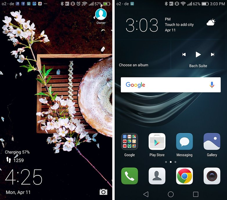 huawei p9 home screen