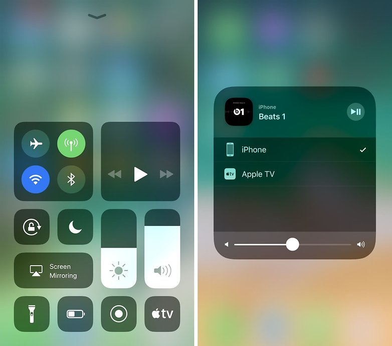 ios control center airplay