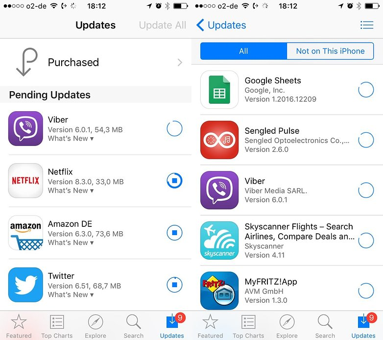 ios app store purchased apps