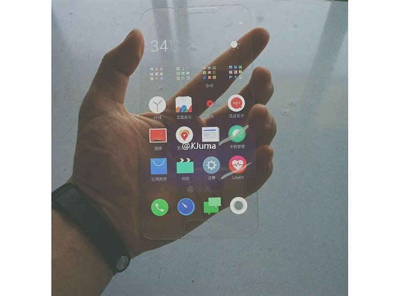 meizu pro 7 transparent display