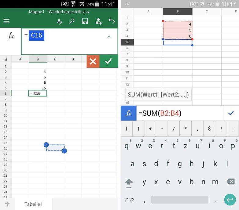 microsoft excel vs google sheets de