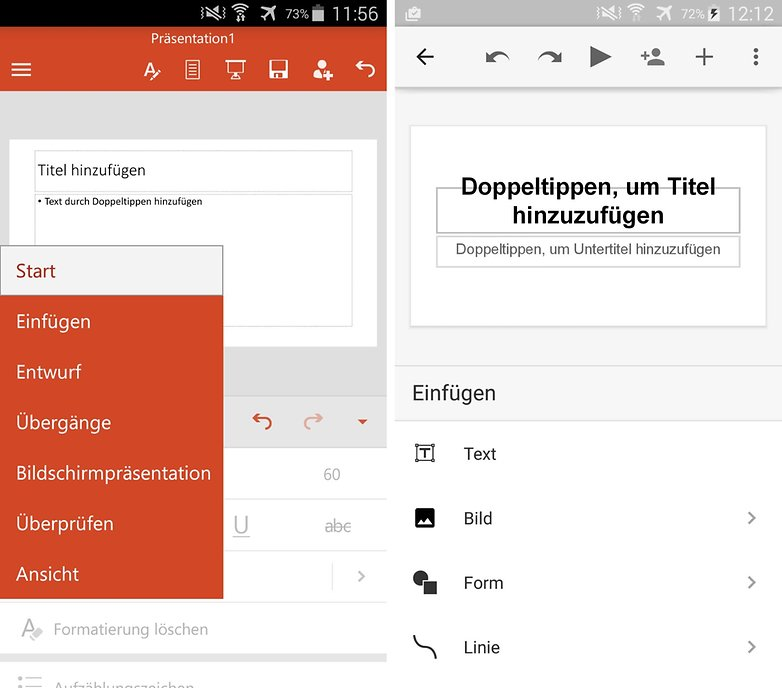 microsoft powerpoint vs google slides de