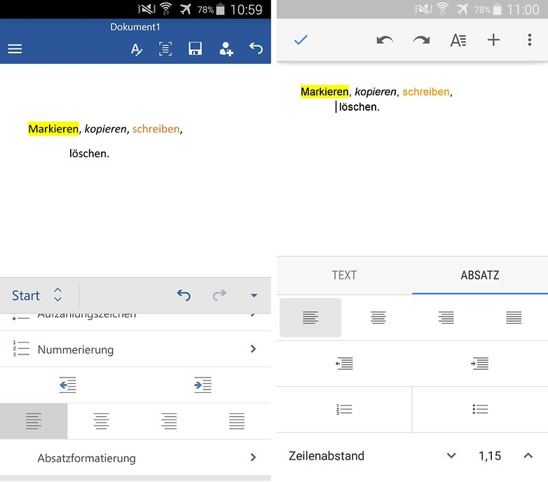 microsoft word vs google docs de