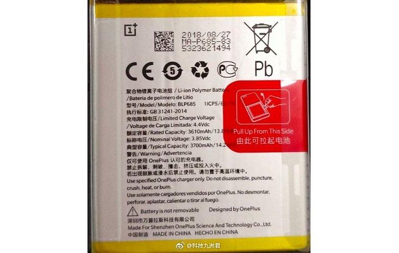 oneplus 6t battery weibo leak