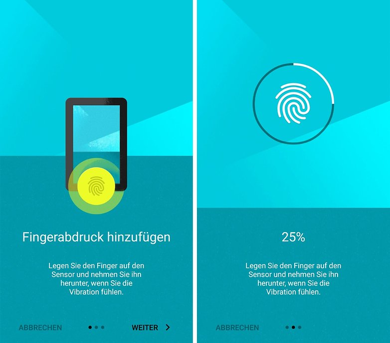 oneplus two fingerprint setup de