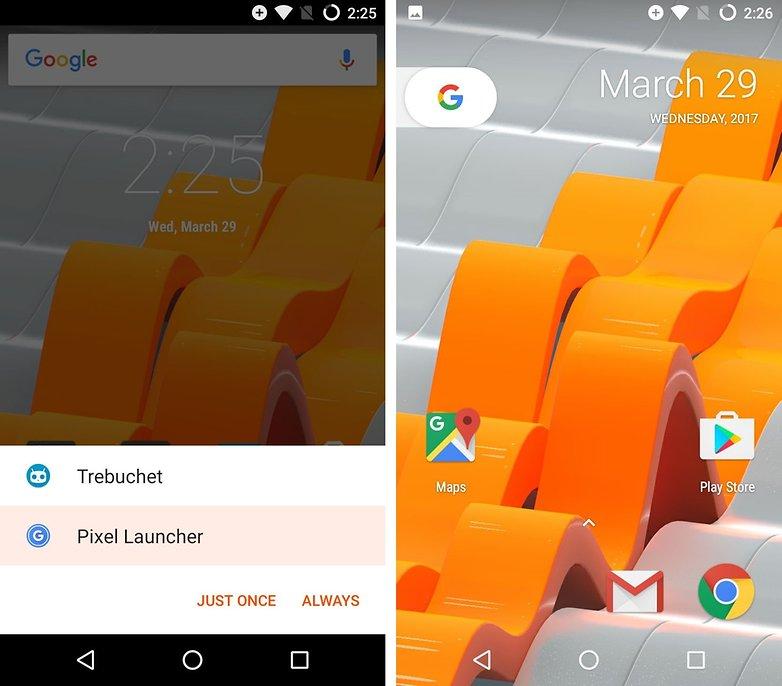 pixel launcher prompt