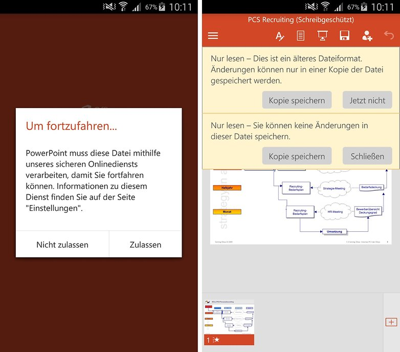 powerpoint for android import old file de