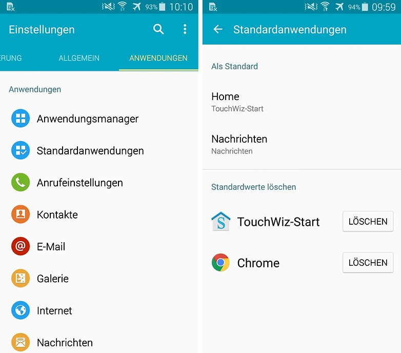 samsung android 50 standard apps delete de
