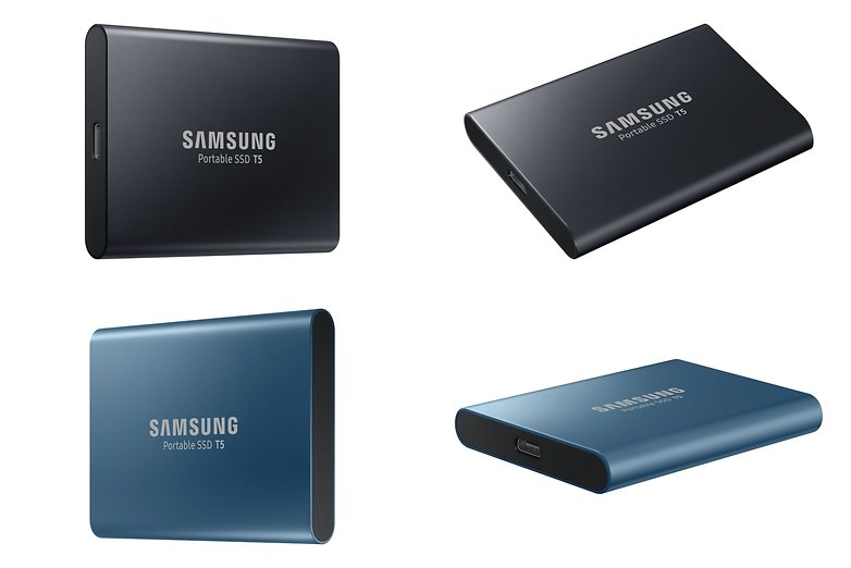 samsung portable t5 ssd black blue