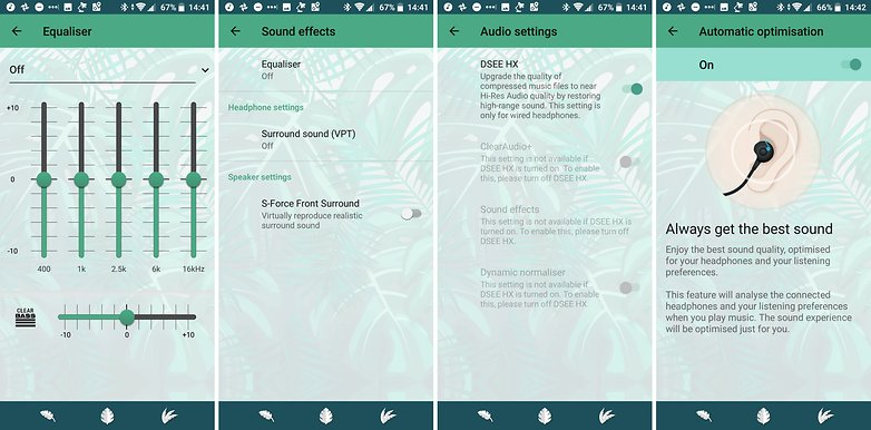sony xperia xz2 compact audio settings