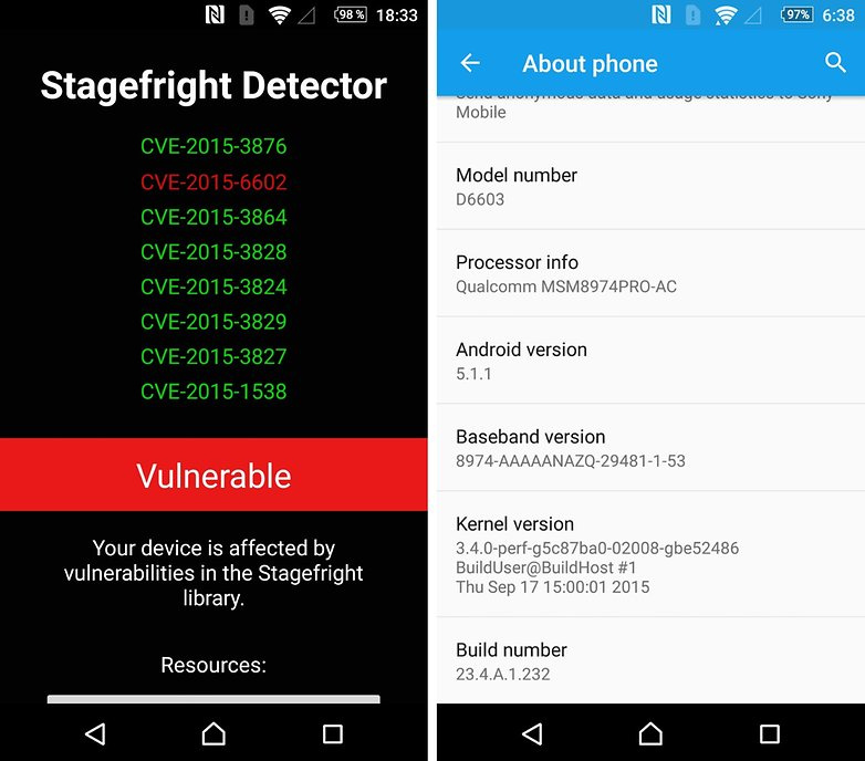 sony xperia stagefright 2 android update