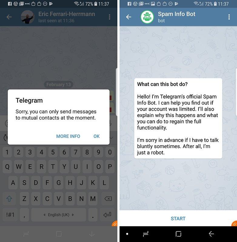 telegram spam protection