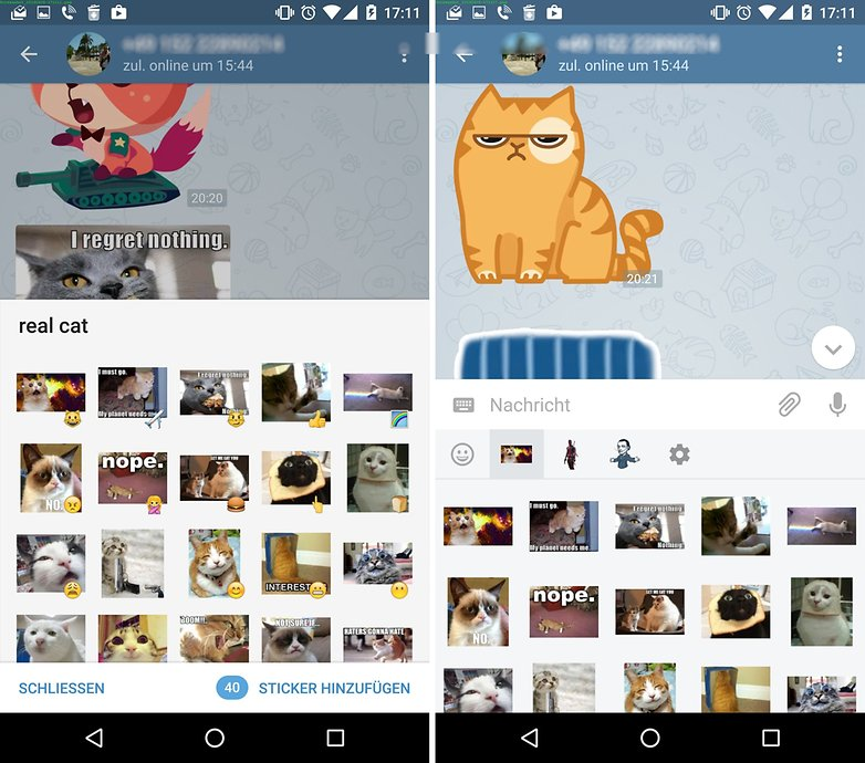 telegram add choose stickers de1