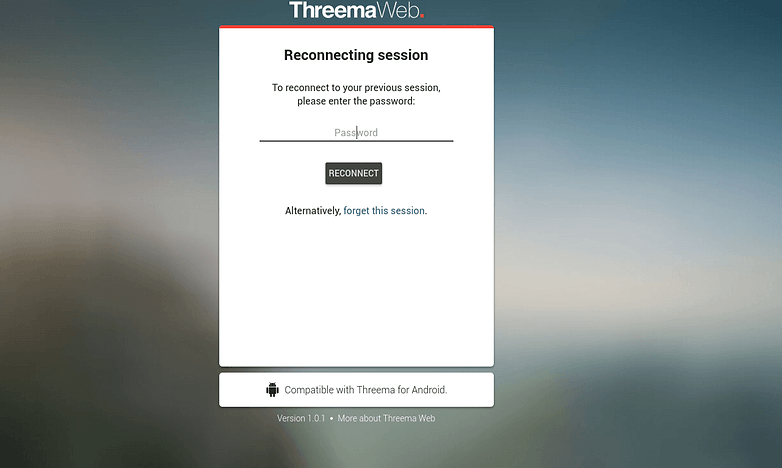 threema web password