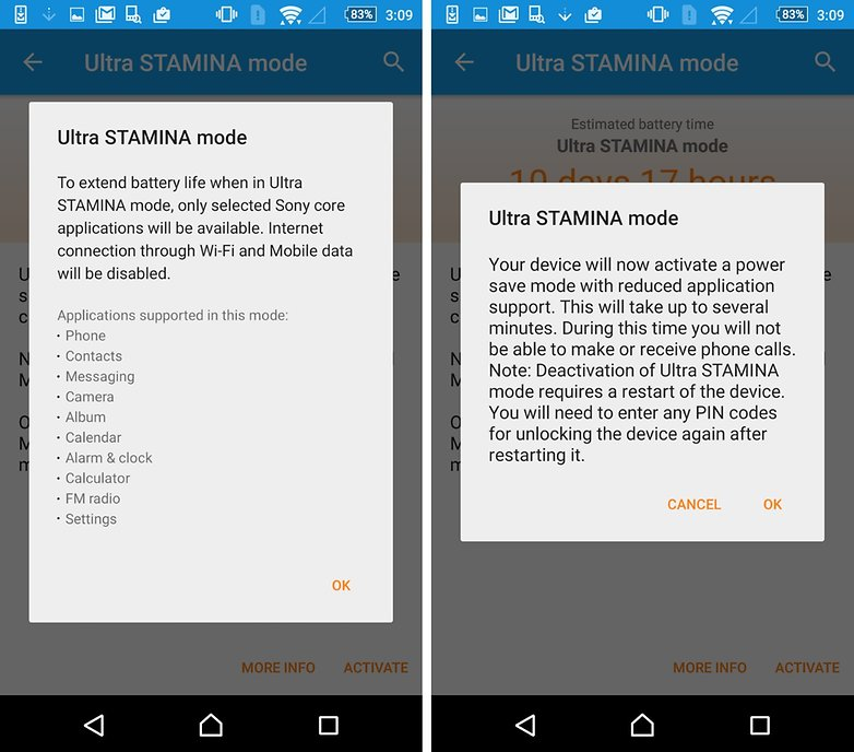 ultra stamina mode lollipop