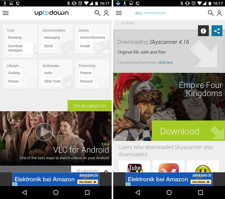uptodown play store alternative categories de
