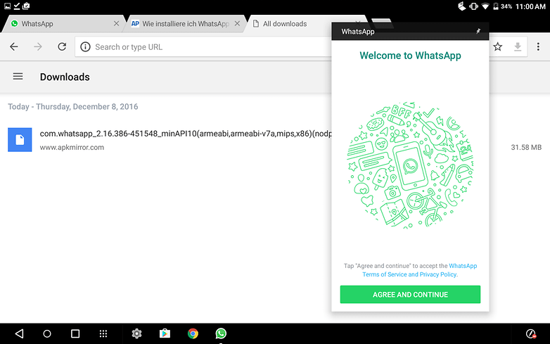 use whatsapp on a tablet 02
