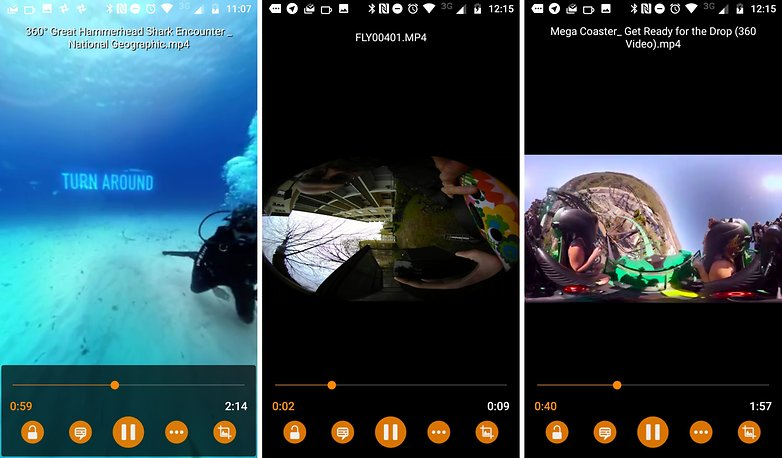 vlc for android 250 360 degree video